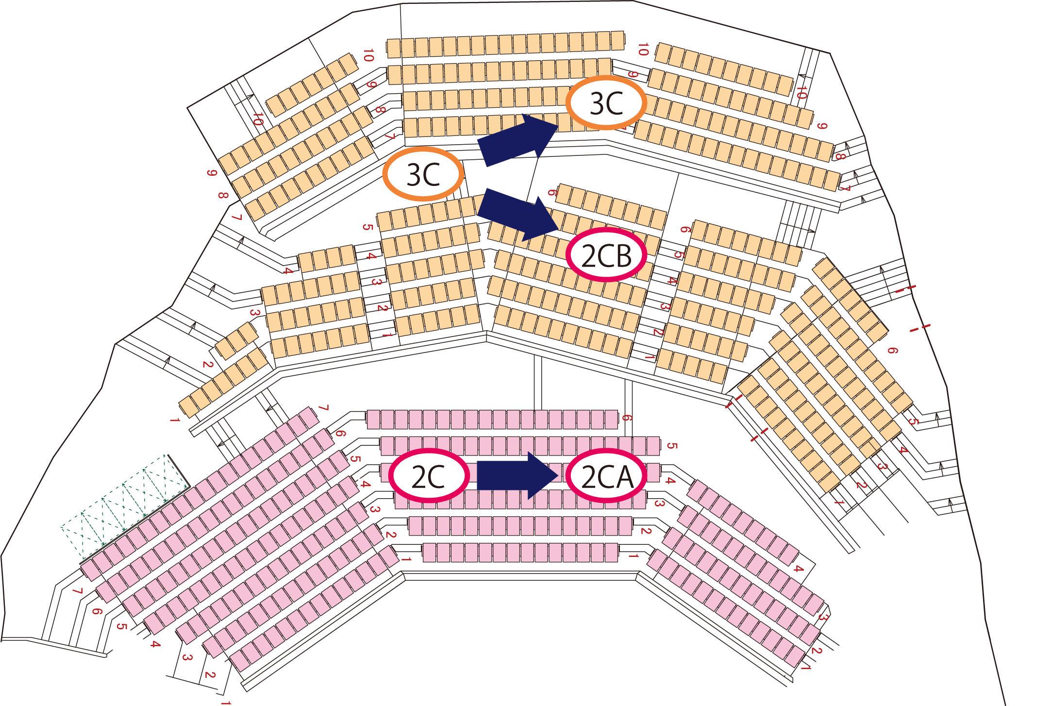 座席表記の変更図