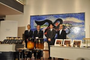 左から浜田事務局長、北條理事長、渡部支店長、菅野支店次長