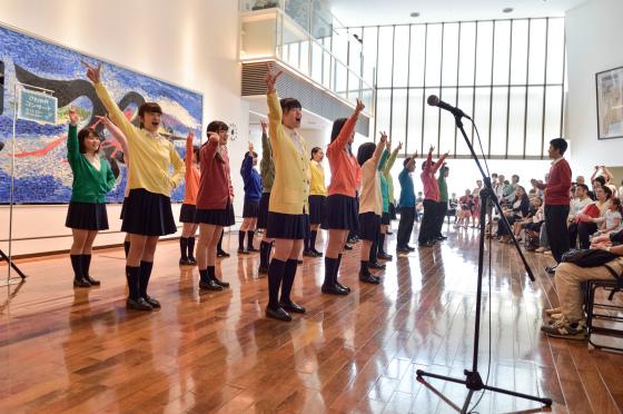 〔写真〕多摩高校合唱団さわやかコンサートの様子