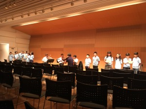 みんなで川崎市歌をうたうコーナーの練習!