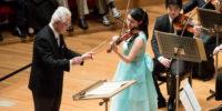 【写真】ソリスト・オーディションで合格されたヴァイオリン:佐藤玲果さん。