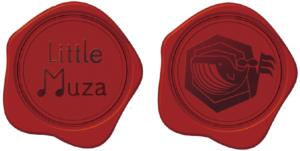 【画像】リトルミューザのロゴマークをかたどったシール。