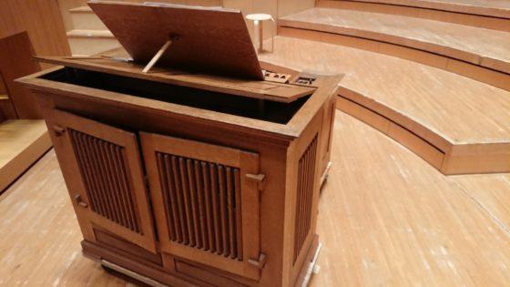 【写真】ミューザが持っているガルニエ社の楽器とは装飾や機構が少し違います。